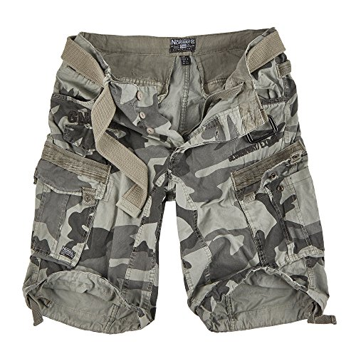Geographical Norway Herren Cargo Short People (XL, Grey Camo)