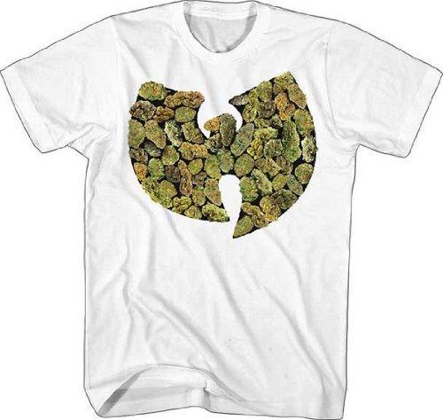 Wu-Tang Clan Pot Leaf Logo T-Shirt