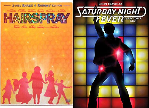Shake & Dance Hairspray 2 Disc Shimmy Edition & Saturday Night Fever John Travolta 2 pack (Director's Cut) 2-DVD Then & Now Bundle
