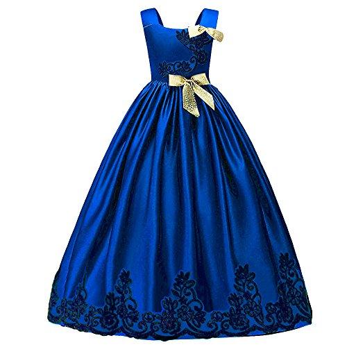 HUANQIUE Mädchen Kleid Prinzessin Ärmellos Abendkleid festlich Hochzeit Geburtstag Party Palace-Stil Kleid