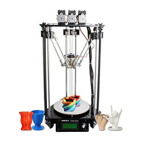 aibecy Geeetech Rostock 301Mix Color FDM 3d impresora conjunto diy, impresora triple-couleur 3-en-1con boquilla de 0,4mm, diámetro del Filamento de 1,75mm