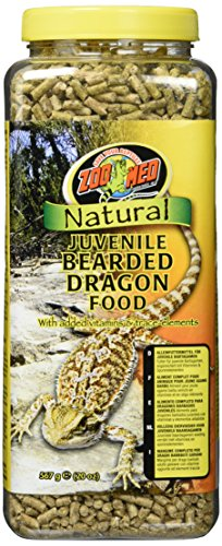 Zoo Med Natural Juvenile Bearded Dragen Food, Futterpellets für Bartagamen 567g, mit Vitaminen und Mineralien