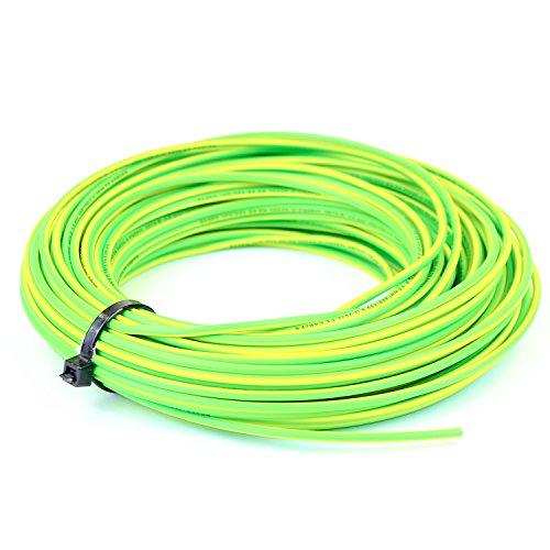 10 mm Einzelkern-Kabel 6491X blau, braun neutral, gelb/grün Erde volle Rolle und angepasste Längen erhältlich (Erde Gelb)