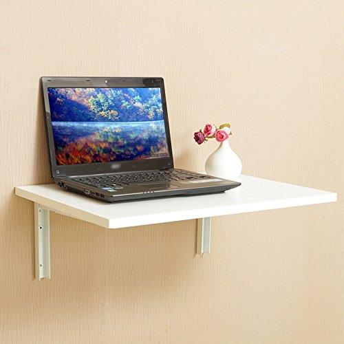 ZZHF Falten Sie den Tisch Wandregale Kleine Wand Bücherregale Wandhalterung Lagerregal 3 Farben erhältlich 60 * 40cm Schreibtische (Farbe : C) - 3 Gang Wandhalterung