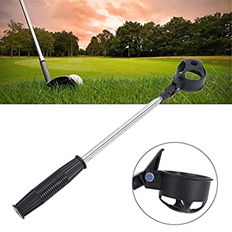 Finger Ten New Golf Ball Retractable Retriever 6.5 Foot/2 meter Telescopic Pick Up Scoop with a Free Golf Ball Wipe Towel Pack