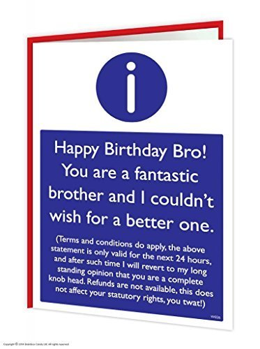 Brother T&Cs Card