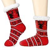 Emooqi Hüttensocken, Stoppersocken Hausschuhe Startseite Socken Stricken Casual Rutschfeste Socken Bequeme und Atmungsaktive Thermische Socken