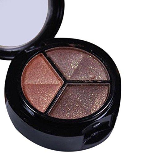 Styledress Professionelle rauchige Kosmetik Set 3 Farben Natürliche Matte Makeup Lidschatten Lidschatten Make-up ()