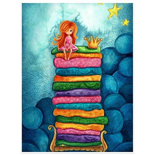 Topposter Poster für Kinderzimmer - Kleine Prinzessin auf der Erbse (Poster in Gr. 40x60cm)