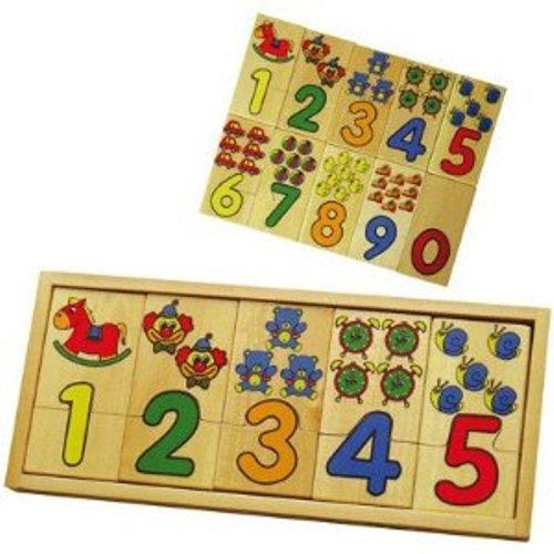 Sapin Malin - SM58469 - Puzzle - Jouet en Bois - Chiffres et Quantités