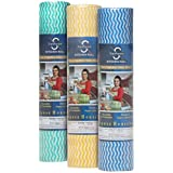 Ginni Kitchen Swipe Rolls Non Woven Fabric 30 X 25 cm Kitchen Tissue/Towel Tissue Roll Reusable & Washable (Multi-Purpose Household Sheets) - 3 Rolls (50 Pulls Per Roll)