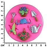 Gärtner garten arbeiten / Blume Silikon Form für Kuchen Dekorieren, Kuchen, kleiner Kuchen Toppers, Zuckerglasur Sugarcraft Werkzeug durch Fairie Blessings