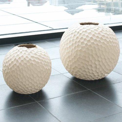 ASA 1340011 Kugel-Vase / Blumenvase - Keramik - Farbe: creme - Ø 17 cm - Höhe 16 cm