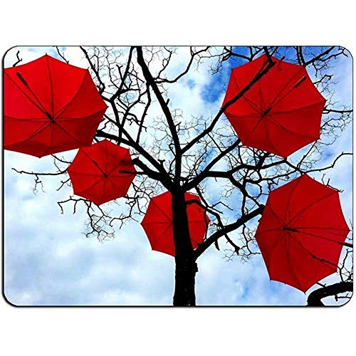 Rote Regenschirme HB0588 Mauspad - Mauspad Mousepad 25cm X 30cm