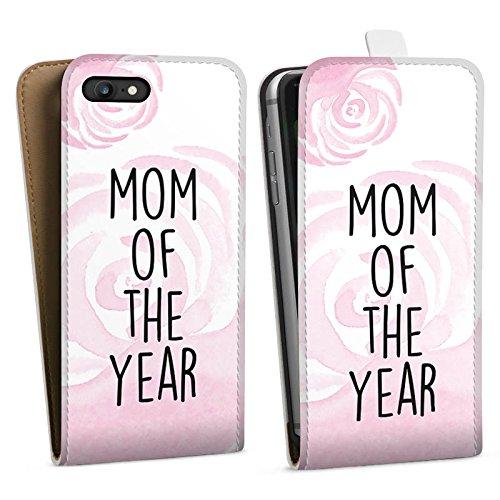 Apple iPhone X Silikon Hülle Case Schutzhülle Muttertag Mutter Mama Downflip Tasche weiß