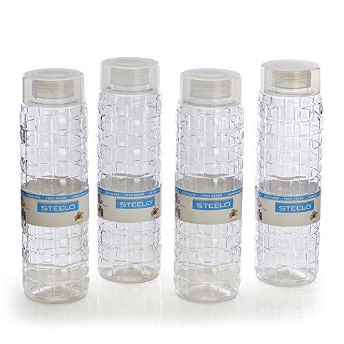 Steelo Solitare Premium Bottle Set, 1 Litre, Set of 4