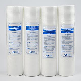 10 Inch Water Purifier 1-Micron Sediment Water Filter Cartridge PP Cotton Filter Water Filter System-4 Pack