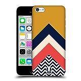 Head Case Designs Senf Gelb Farbblock Chevron Ruckseite Hülle für Apple iPhone 5c