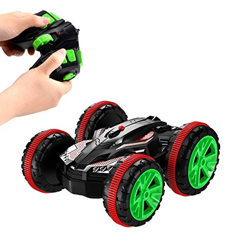 SZJJX RC Car 2.4Ghz Stunt Truck 4WD 6CH Remote Control Amphibious Off Road Electric Race Double Sided Boat Tank Vehicle 360 Degree Spins and Flips Land and Water