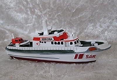 Schiffsmodell MS Arkona SAR Stralsund Mineatur Modellschiff Boot Deko Ostsee von LifeStyle-Kreativ