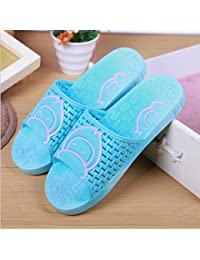SUxian Creative Ladies Cartoon Monkey Summer Slippers Bathroom Slippers Non-slip Durable Slippers Sandals (Color : Sky-blue, Size : 38)