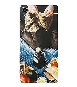HiFi Designer Phone Back Case Cover Sony Xperia E5 Dual :: Sony Xperia E5 ( Picnic Food Spot Pattern )