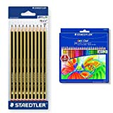 Staedtler - Pack 10 unidades lapicero Noris HB + 24 lápices de colores Noris Club