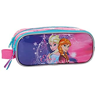 Disney Frozen-4994251 Estuche portatodo Doble, Color Rosa, 23 cm (Joumma 49942)