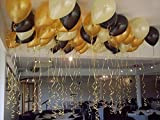 #6: Themez Only Metallic HD Party Balloons (Gold, White And Black) - Pack of 50