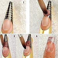Frcolor 100pcs forma Pro Arte guía forma Tips acrílico Gel extensión etiqueta engomada del clavo del clavo