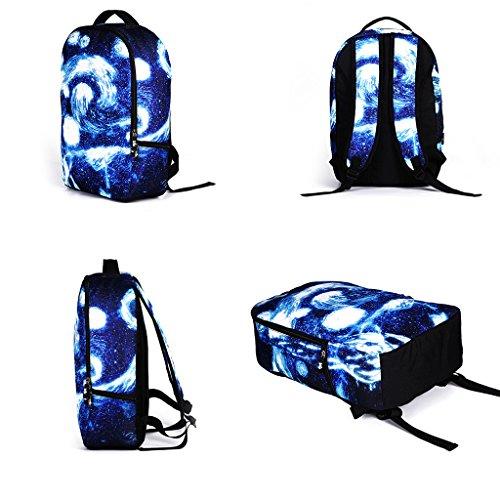 DoGeek Zaino Scuola 3D Stampa Zainetti Zaini Bambini Borse a spalla Sacchetto di Scuola unisex multicolore nylon galassia Zaini per Ragazza Ragazzo Blu