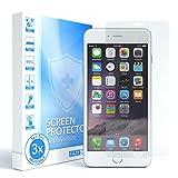 EAZY CASE 3X Displayschutzfolie für Apple iPhone 6, iPhone 6S, nur 0,05 mm dick I Displayschutz, Schutzfolie, Displayfolie Transparent/Kristallklar