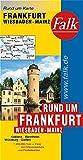 Falk Rund um Karte Rund um Frankfurt - Wiesbaden - Mainz 1:200 000 Koblenz - Mannheim - Würzburg - Gießen -