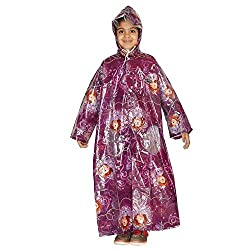 Zeel Sofia Printed Long Raincoat For Girls Size 30