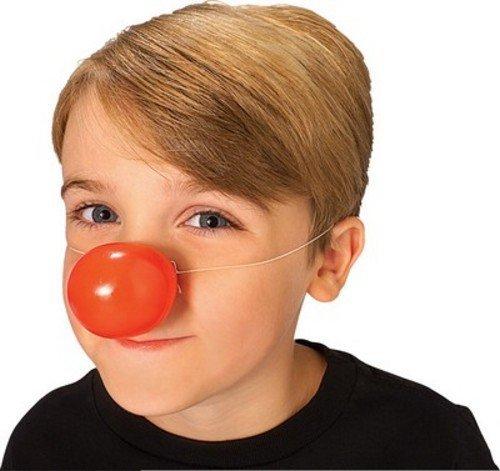 Rubie' s ufficiale rosso naso clown plastica adulto (taglia unica)