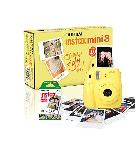 instax-mini-8-camera-with-10-shots-yellow