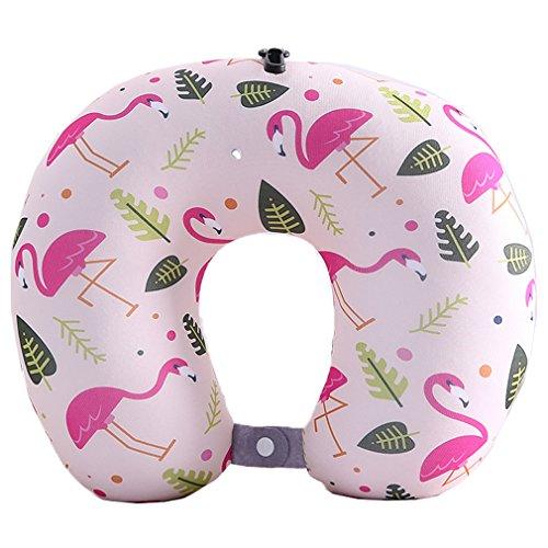 WYSMOL Flamingo Mikroperlen Nackenhörnchen U-förmigen Reisekissen Bücherkissen Muster 9