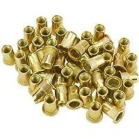 Tenflyer 50 PCS M10/ M12/ M8/ M5/ M6 / M3/ M4 de cabeza plana Rivet Nut de Instrumentos Muebles Decoración (M6)