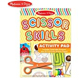 Melissa & Doug Scissor Skills Activity Book (Animal & People Play Set, Pair of Child-Safe Scissors Included, 20 Pages)