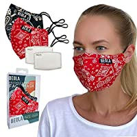 BEOLA Washable Fashion Face Mask Non Medical Reusable With Filter Reusable (Diana)
