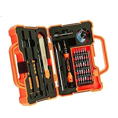 Maofacegirl 45 in 1 Schraubendreher-Set,Reparatur zerlegen Werkzeug Pflege Handy, Tablet-PC, Computer-Hauptplatine und