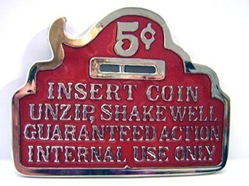 Fibbia Insert Coin, ... Si prega di Insert Coin - Insert Coin Fibbia Della Cintura