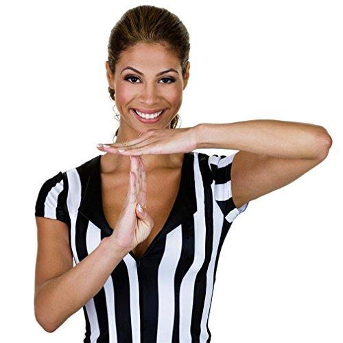 Crown Sporting Goods Damen Official gestreift Schiedsrichter/Schiedsrichter Jersey, damen, schwarz