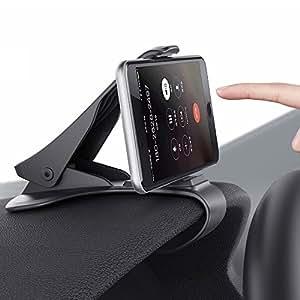 Sumbay, Supporto per telefono veicolare con fissaggio automatico forte, per smartphone da 3 a 6,5 pollici, Nero