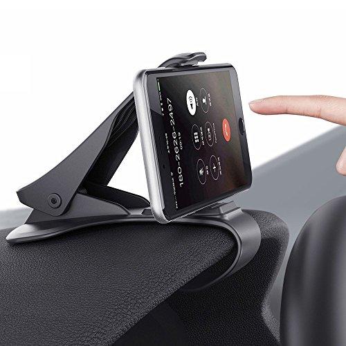 Soporte para teléfono de coche Soporte para móvil soporte de coche Pinza sujeta móvil para coche Soporte de coche para el teléfono/Smartphone Base movil soporte móvil soporte teléfono compatible con todo tipo de teléfonos