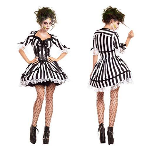 ifte Geister Braut Kostüm Vampir Ritter Kostüm Zombie-Kostüm Cosplay Halloween Kostüm Make-Up-Party Niedliche Damen Accessoires,M ()