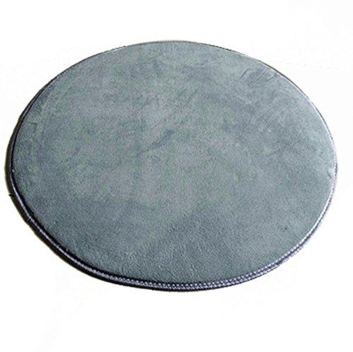 Icegrey Tapis Shaggy Tapis De Salon à Longs Poils Antidérapage Rond Tapis De Sol pour Table De Salon Chambr Gris 60x60cm