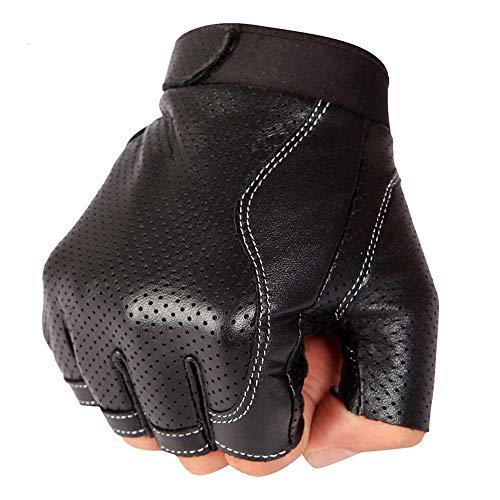 Trdyj guanti maschio mezza finger guida sport all'aria aperta attrezzatura per l'alpinismo guanti in pelle traspirante antiscivolo (dimensioni : m)