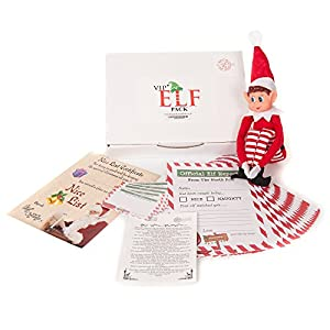 VIP Christmas Elf Pack with Elf, Nice List Certificate, 24 reports, letter , Cards Behaviour