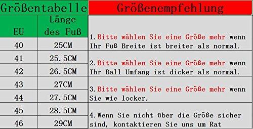 Herren/ Mann Professionelle MTB Mountainbike Fahrrad schuhe Radsportschuhe EU Größe 43 Ft 27.5cm Blau/Schwarz - 6